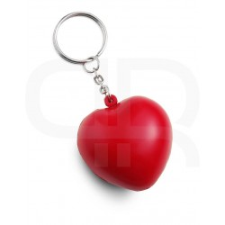 "Keyring, anti stress ""heart"""