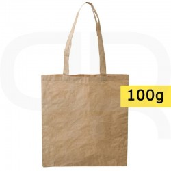 Shopping bag made of cotton and paper